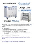 Dukane mcc3 chromebook netbook cart