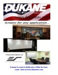 Dukane offers elite screens