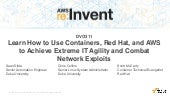 (DVO311) Containers, Red Hat & AWS For Extreme IT Agility