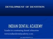 Development of dentition.