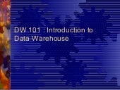Data Warehouse 101