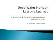 Deep Water Horizon Accident Investi...