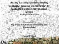 Acting Locally, Understanding Globally - Building an International Community of Practice for Neighbourhood Data Collection, 21/11/2014