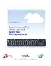 Deploying OpenStack Private Cloud on NEC DX1000 MicroServer Chassis
