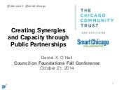 Creating Synergies and Capacity through Public Partnerships