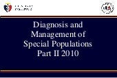 Diagnosis and Management of Special...
