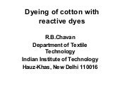 Dyeing of cotton with reactive dyes quality q&a