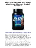 Dymatize nutrition elite whey protein isolate powd   5 star review