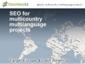 SEO for international multilingual projects