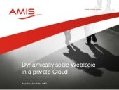 Dynamicly Scale Weblogic in the private Cloud clusters