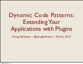Dynamic Code Patterns: Extending Your Applications with Plugins