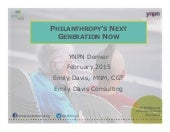 Philanthropy's Next Generation Now