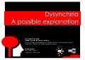 Dysynchiria - a possible explanation