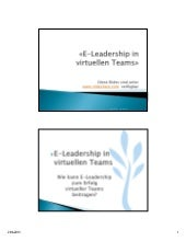 E leadership in virtuellen teams re...