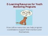 E-learning for Mentoring Programs