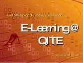 E Learning @ Qite