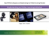 Implementing an Online Learning Initiative