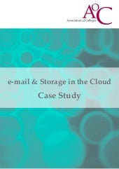 E mail & storage in the cloud