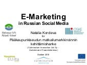 E marketing in russian social media...