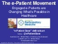 e-Patients: Sharing the knowledge, sharing the work