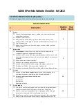 E portfolio draft checklist - fall 2012
