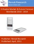 E reader market & future forecast worldwide 2010 – 2014