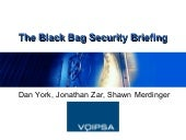 E Tel2007 Black Bag Session - VoIP ...