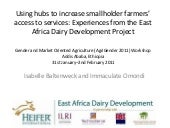Using hubs to increase smallholder ...