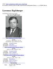 LAWRENCE EAGLEBURGER (Wikipedia Inf...
