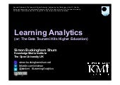Learning Analytics (or: The Data Ts...