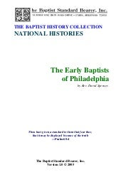 Early baptist of philadelphia, davi...