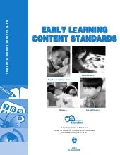 Early learning content standards of...
