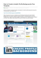 how to create linkedin profile backgrounds free template