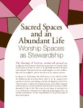 Sacred Spaces and an Abudant Life -...