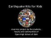 Earthquake Kits For Kids