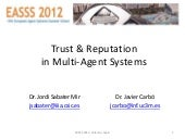 T9. Trust and reputation in multi-a...