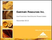 Eastmain Resources, Inc. video