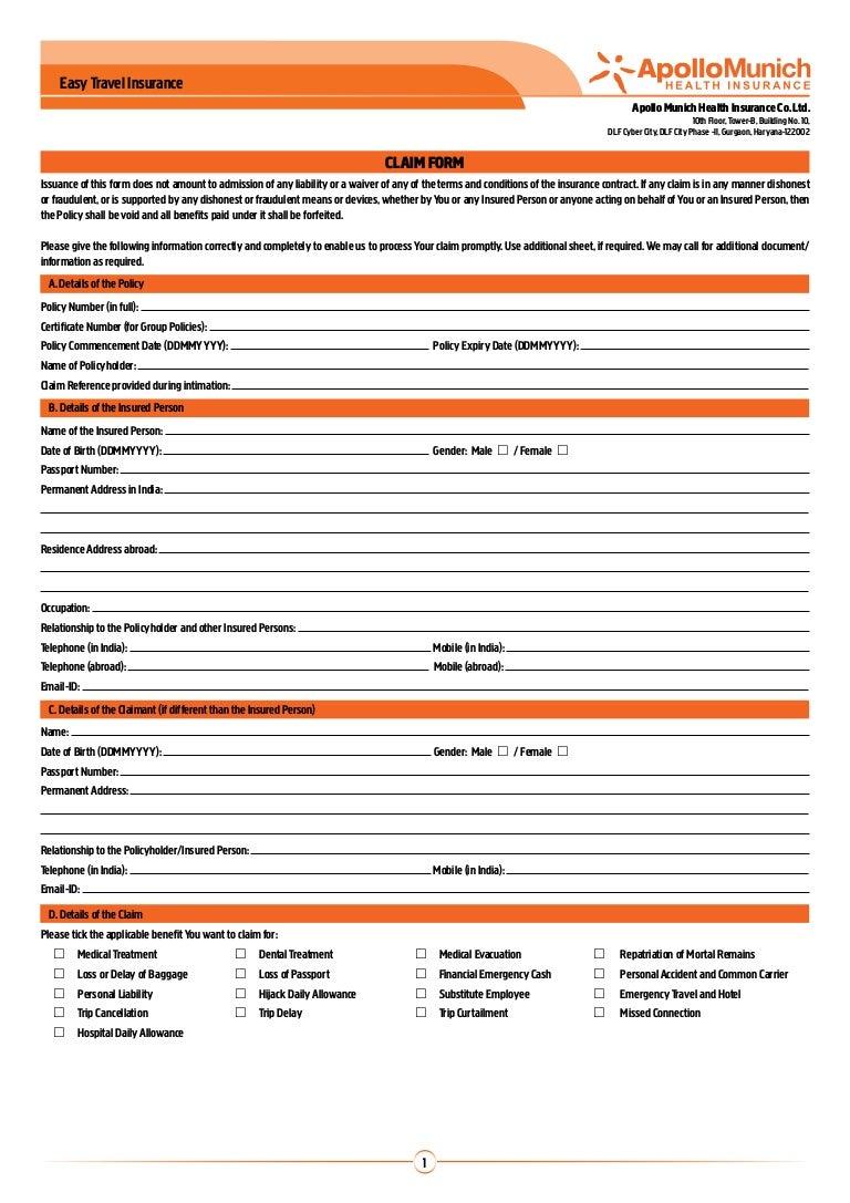 Allianz Travel Insurance Claim Form Joshymomo Org