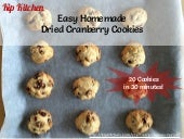 Easy Homemade Dried Cranberry Cookies Recipe From Scratch by @kipkitchen