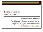 Eating Disorders - June 2012