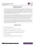 TAP Tip Sheet - Eating Tips