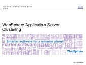 IBM WebSphere Application Server (Clustering) Concept