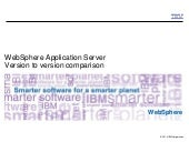 IBM WebSphere Application Server version to version comparison