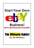 Ebay Business Guide- how to make money on ebay