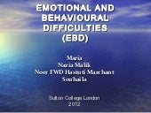 Emotional and Behavioural Difficulties