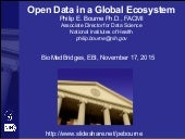 Open Data in a Global Ecosystem