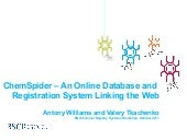 ChemSpider – An Online Database and...