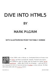 Manual en Dive Into html5