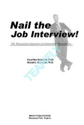 (Ebook   resume) job interview - 101 dynamite answers to interview questions 1-57023-207-5