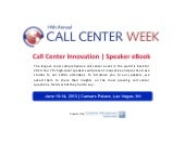 Call Center Innovation | Speaker eBook